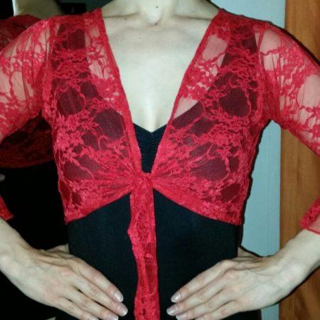 T007A_Bolero flamenco encaje rojo frente