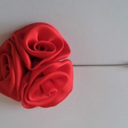 AN21A Prendedor Rosa rojo LIV