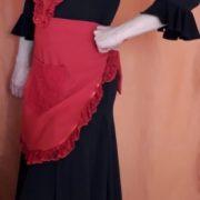 Conjunto delantal rojo Top lentejuelas 3