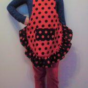 Delantal flamenco niña 2