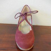 Zapato profesional de flamenco Dulce 36-5 Ancho burdeo frente 155