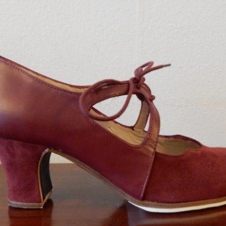 Zapato profesional flamenco Dulce 36-5 Ancho burdeo lado 155