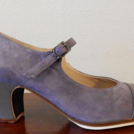 Zapato profesional flamenco Puntera 36-5 lila lado 148