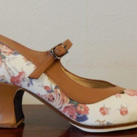 Zapato Profesional flamenco Salon Correa II 36 floreado lado 148