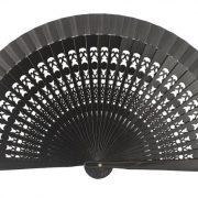 Abanico Calado 19 cm Negro