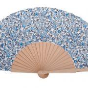 Abanico abedul flor chica azul