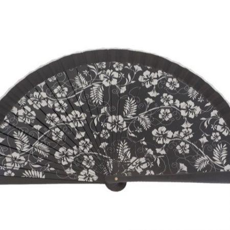 Abanico impreso negro 23 cm cut