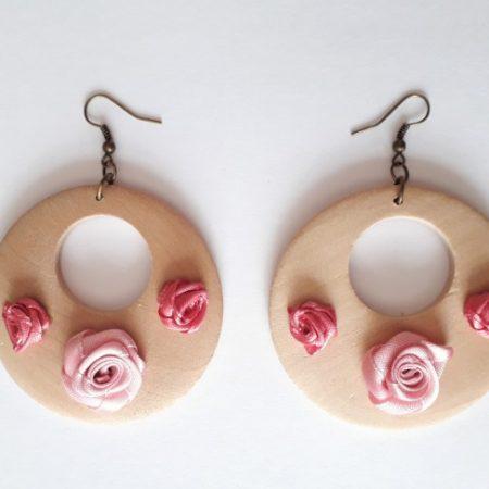 Aro madera especial flores palo rosa