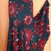 F008C Falda de flamenco 4 cortes Mandalas Rojos