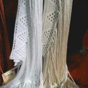 Tiras de Flecos blanco y beige LIV